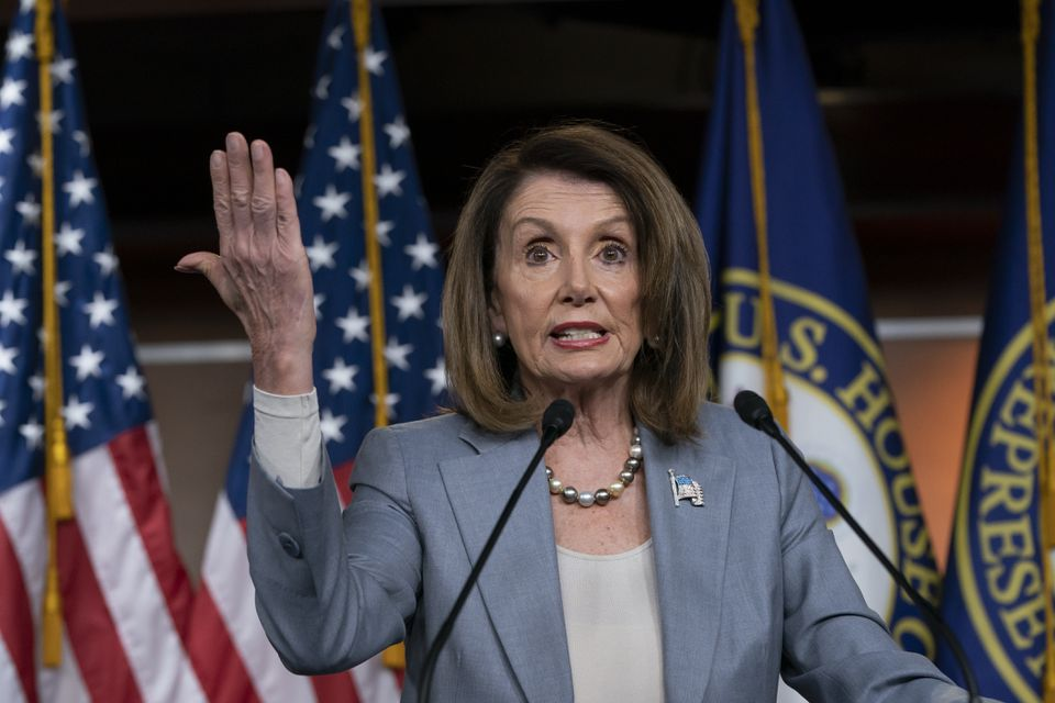 """Speaker of the House Nancy Pelosi of California spoke on Capitol Hill Thursday and introduced a new concept to the debate over President Trump's behavior: """"Self-impeachable."""""""