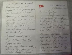 A letter on Titanic stationery from survivor Edwina Troutt.