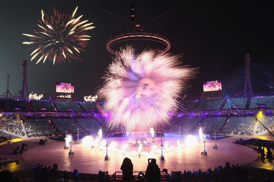 The opening ceremony for the 2018 Winter Olympics in PyeongChang, South Korea, in February.
