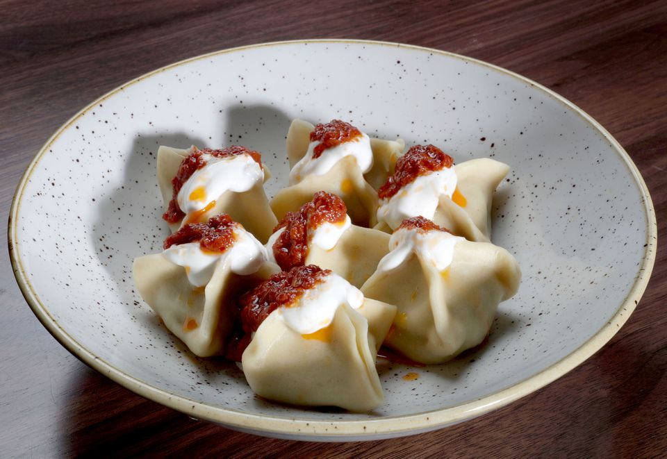 Monti, or Istanbul meat ravioli, at Little Donkey.