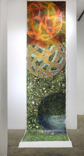 David Fratkin's Burble, 2016 urethane and other acrylic mediums.