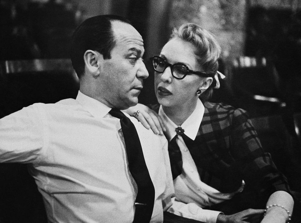 Broadway composer Frank Loesser and his wife and musical partner, Lynn, in 1956