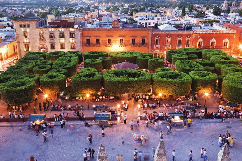 The park Jardin Principal is a people magnet in the center of San Miguel's historic district.