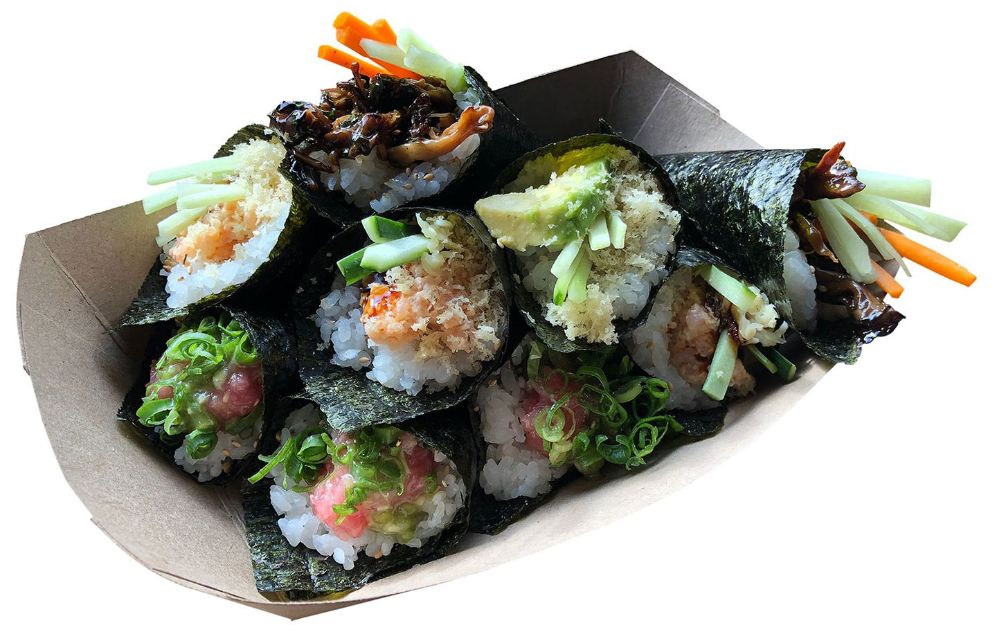 Crave-worthy hand rolls from Mr. Tuna.