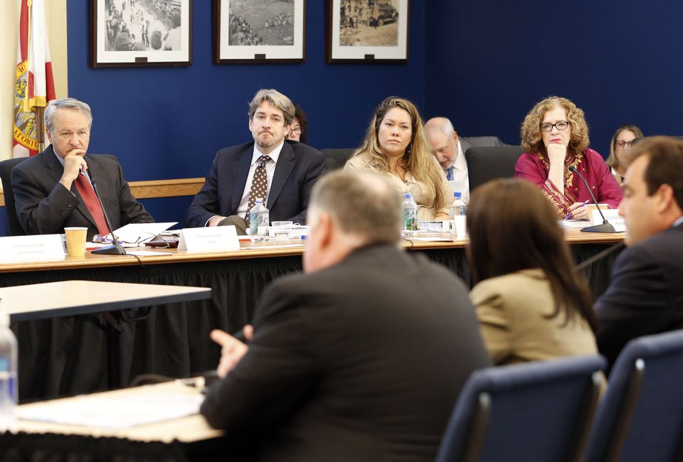 Experts presented information on predictive analytics to the Commission to Eliminate Child Abuse and Neglect Fatalities at the Children's Board of Hillsborough County in July 2014 in Tampa, Fla.