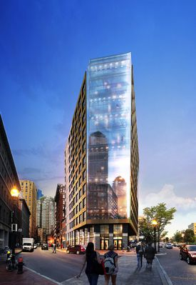 Boulevard on the Greenway, a 12-story condominium development by New Boston Ventures.