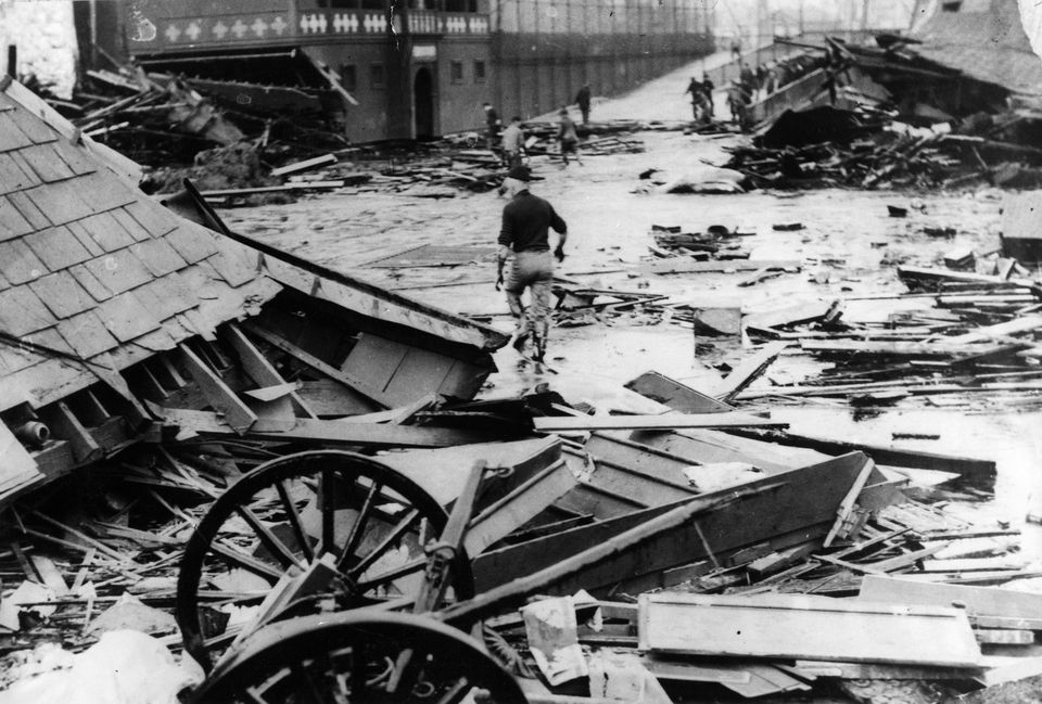 On January 15, 1919, a giant tank in the North End collapsed, sending a wave of an estimated 2.3 million gallons of molasses through the streets of Boston.