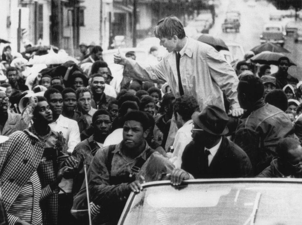 Kennedy campaigned in Omaha, Neb., on June 4, 1968.