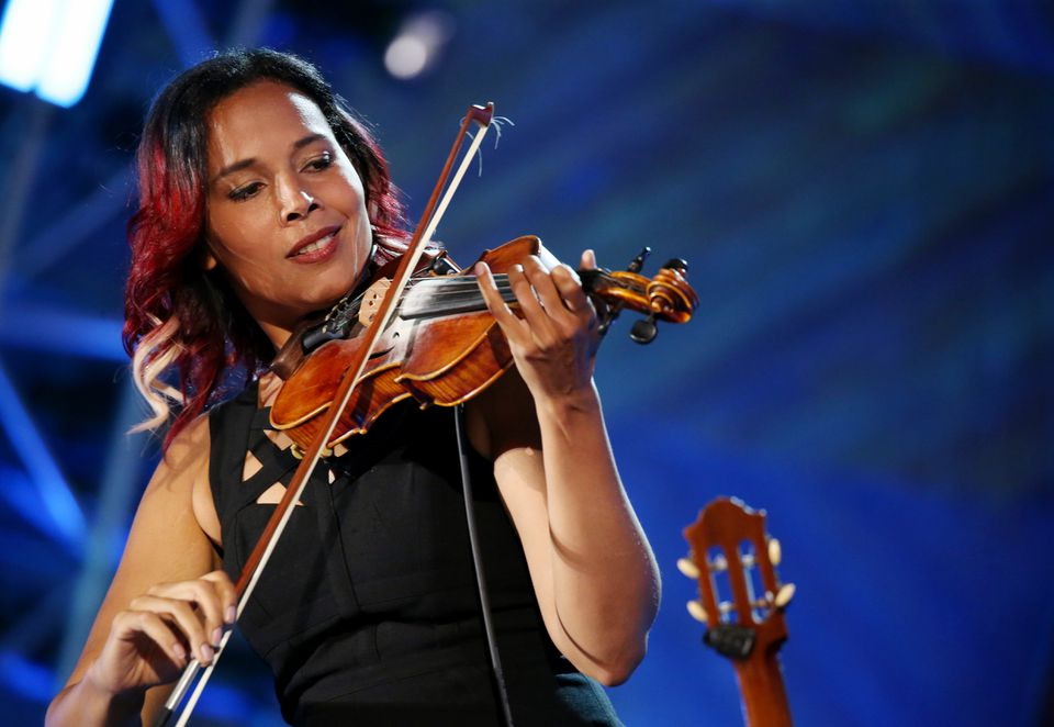 Rhiannon Giddens, pictured last July Fourth at the Boston Pops Fireworks Spectacular, has a four-night residency with the Pops in May.