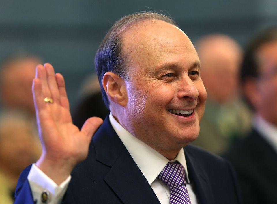 Stanley Rosenberg was sworn in as the new Senate president on Wednesday.