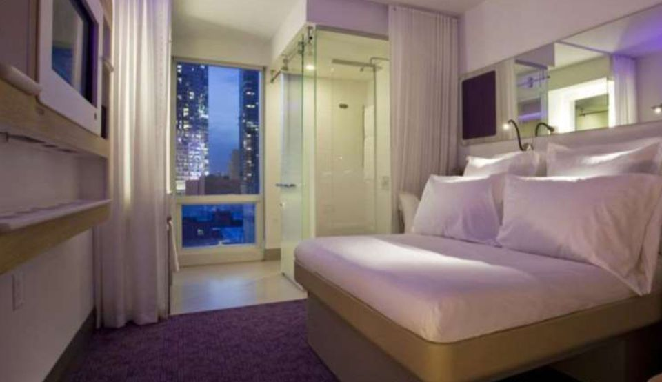 Some of the 669 cabins in the Yotel New York, near Times Square, are about 175 square feet in size. A developer plans similar rooms in Boston, from 160 to 200 square feet.