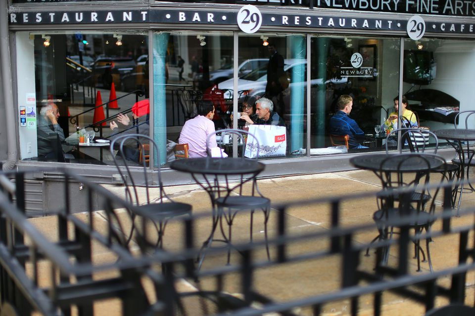 29 Newbury, an upscale American cafe, is closing as the real estate boom sweeping through Boston is resulting in higher rents and property taxes.