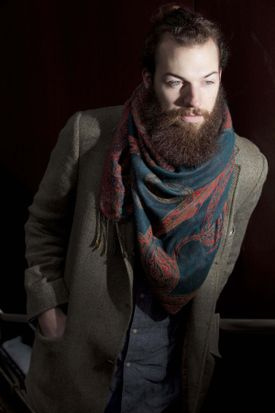 """Phil Sullivan didn't win """"America's Next Top Model."""" But it did give him a chance to grow a big, bushy beard — a rarity in the fashion world."""