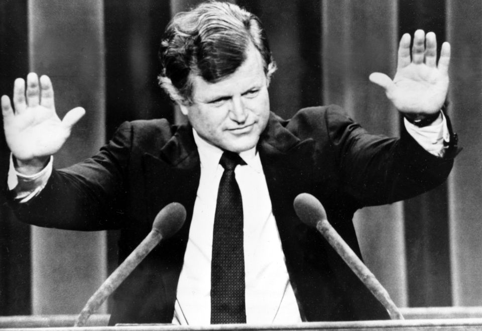 Senator Edward Kennedy responded to applause at the Democratic National Convention in 1980.
