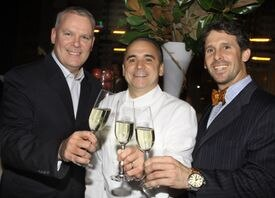 Marcus Palmer (far right, in a 2010 photo) has opened Great Road Kitchen Oyster Bar and Grill in Littleton.