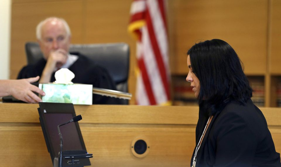 Lynn Roy was offered tissues during her testimony before Judge Lawrence Moniz.