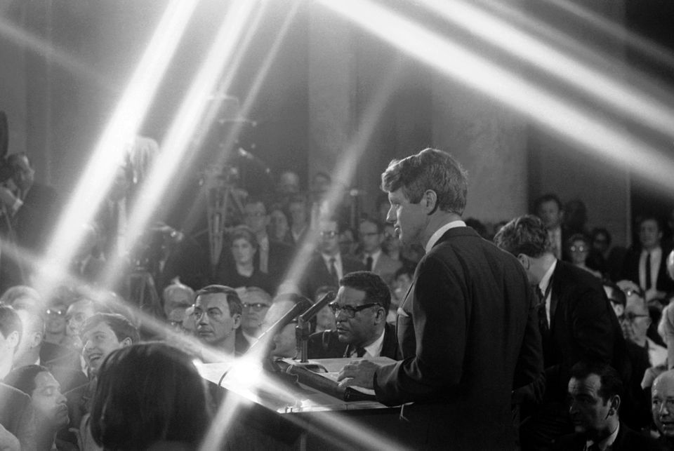 Kennedy formally announced his candidacy for president on March 16, 1968.
