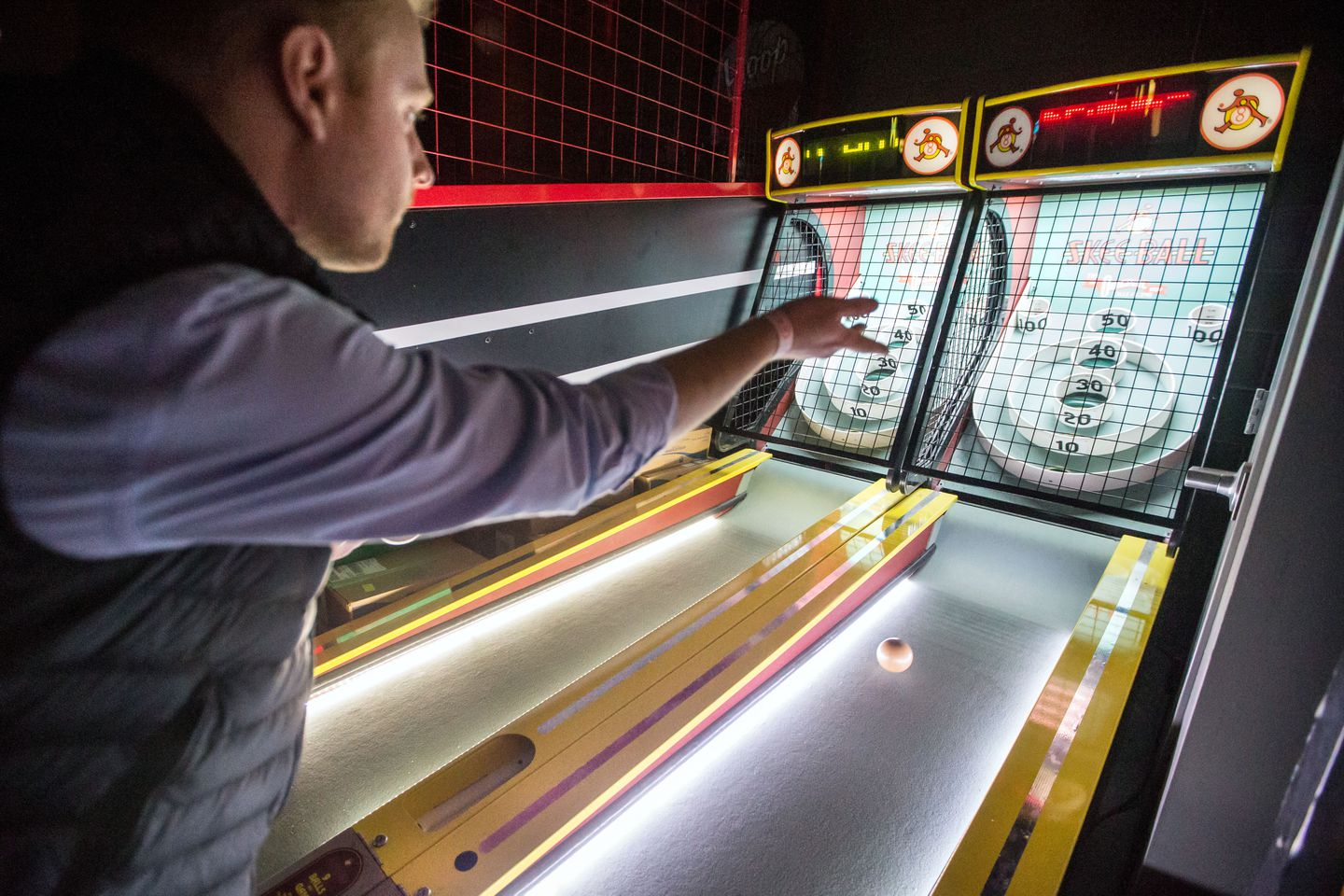 Skee-Ball is one of the games customers can play at A4cade in Cambridge.