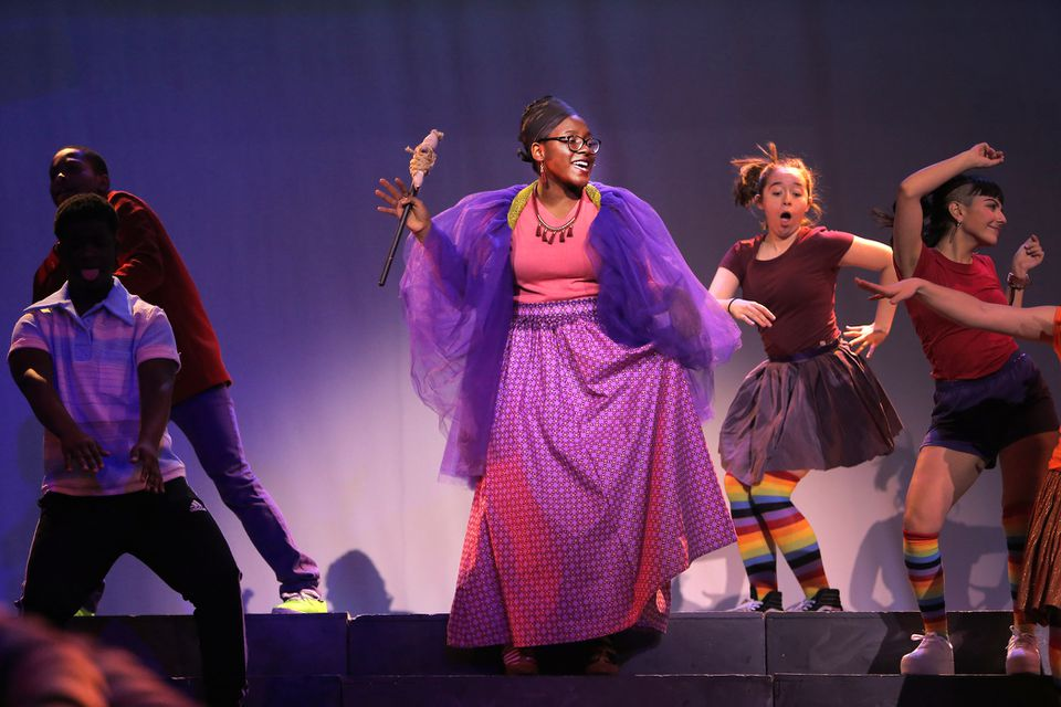 """Alexis Maxwell as Addaperle sang during Thursday's rehearsal for """"The Wiz"""" at the Strand."""