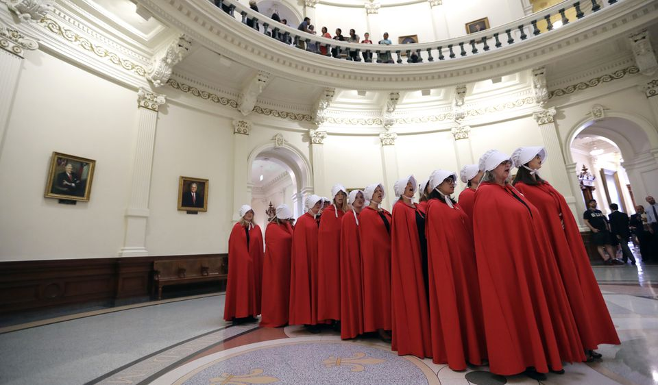 Activists chanted in the Texas Capitol Rotunda to protest a bill to ban the donation of aborted fetal tissue to medical researchers.