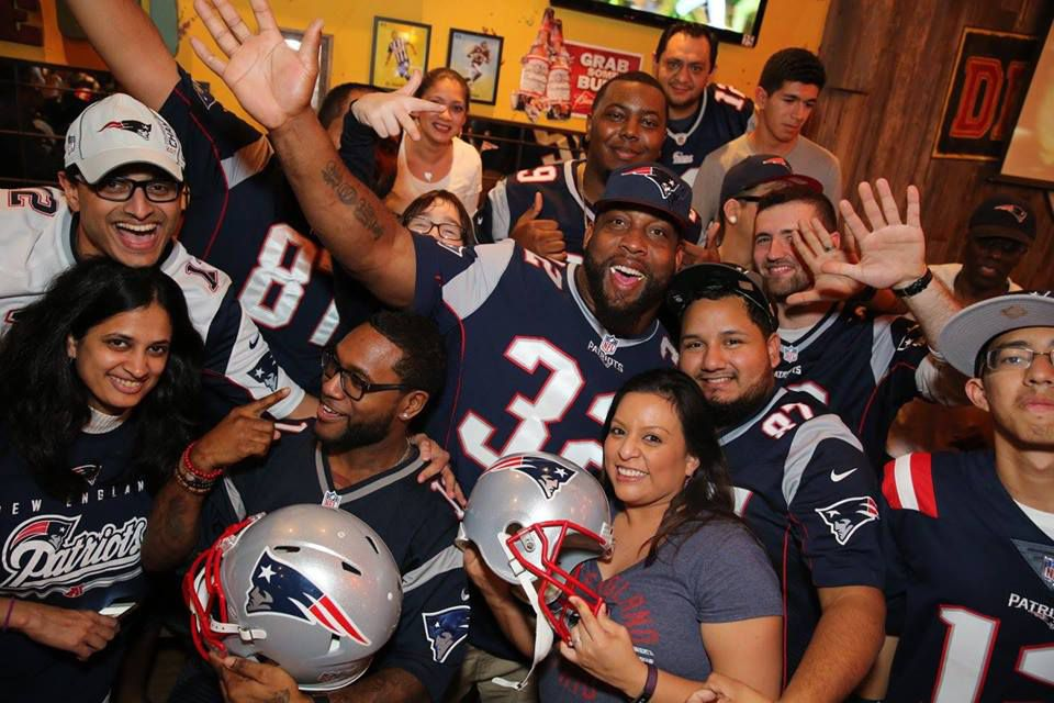 """""""Houston Patriots Fans"""" meets at Diablo Loco, a bar that they consider """"Foxborough South."""""""