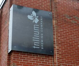 The Trillium Brewery Co. sign in Canton.