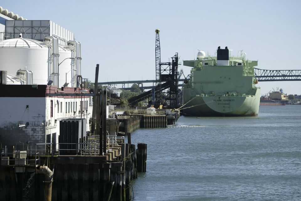 Huge liquefied natural gas ships dock at Everett Marine Terminal and convert their cargo into natural gas for distribution across the region.