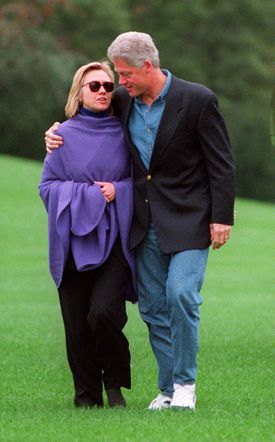 William H. Chafe notes that the Clintons's marriage blends the personal and the political.