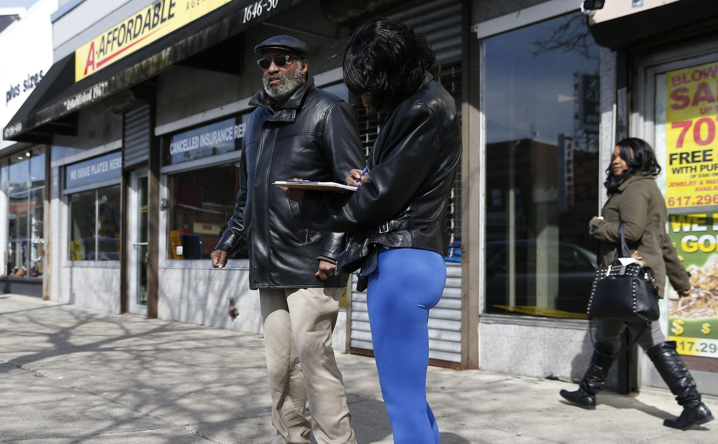 In the heart of Mattapan Square, a man collected signatures for a petition on behalf of Tito Jackson, who is seeking to open the commercial district's first marijuana store.