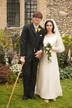 """Eddie Redmayne and Felicity Jones as Stephen and Jane Hawking in """"The Theory of Everything."""""""