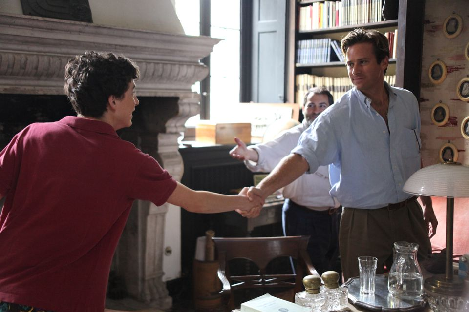 "Timothée Chalamet and Armie Hammer in a scene from ""Call Me By Your Name."""