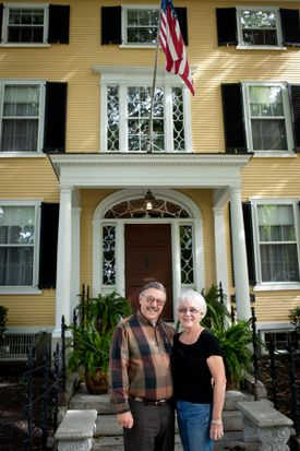Innkeepers Rick Litchfield and Bev Davis of Captain Lord Mansion in Kennebunkport.