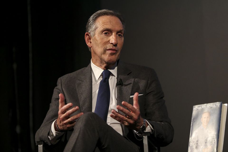 Ex-Starbucks CEO Howard Schultz was at the Brattle to promote his book.