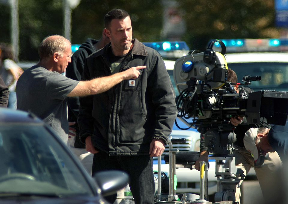 """Ben Affleck during the filming of the movie """"The Town"""" in Boston in 2009."""