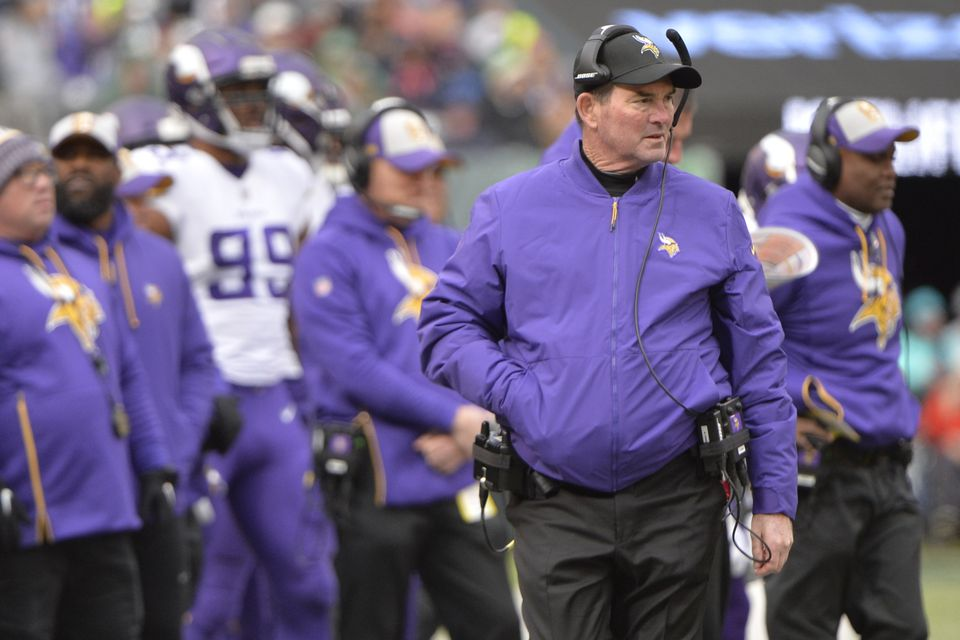 Vikings head coach Mike Zimmer would like to see more balance in his offense.