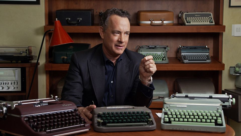 "Tom Hanks in the 2017 documentary film ""California Typewriter,"" directed by Doug Nichol."