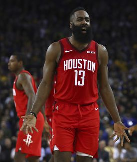 James Harden beat the Warriors with a near-impossible 3-pointer Thursday night.