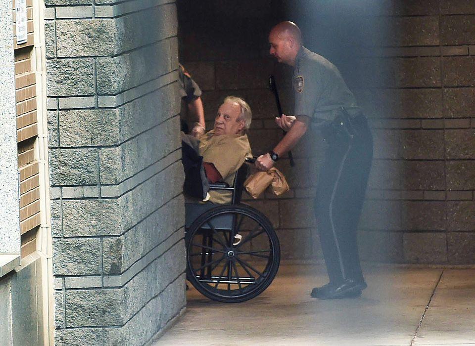 In this April 20, 2015, file photo, Robert Gentile is brought into the federal courthouse in a wheelchair for a continuation of a hearing.