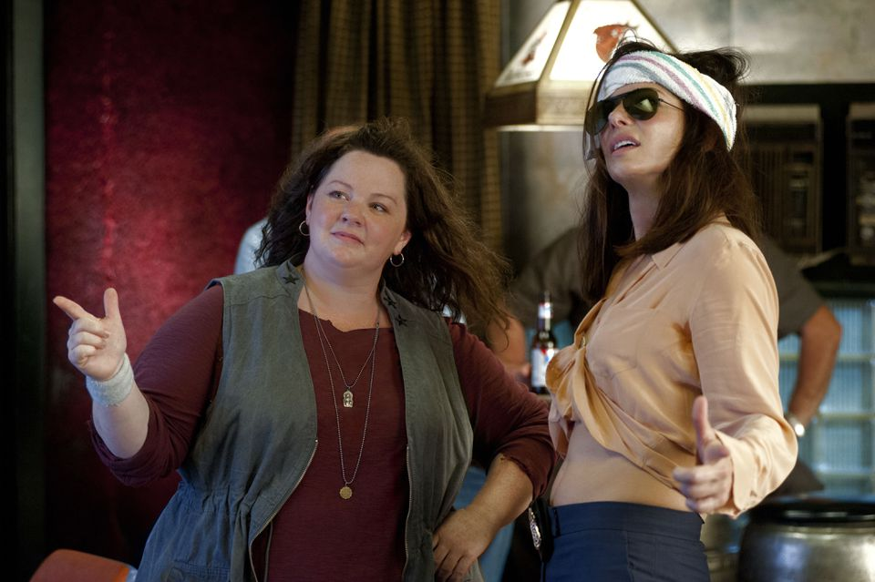 """""""The Heat"""" pairs Melissa McCarthy (left),  as a Boston police detective, with Sandra Bullock, as an FBI agent."""