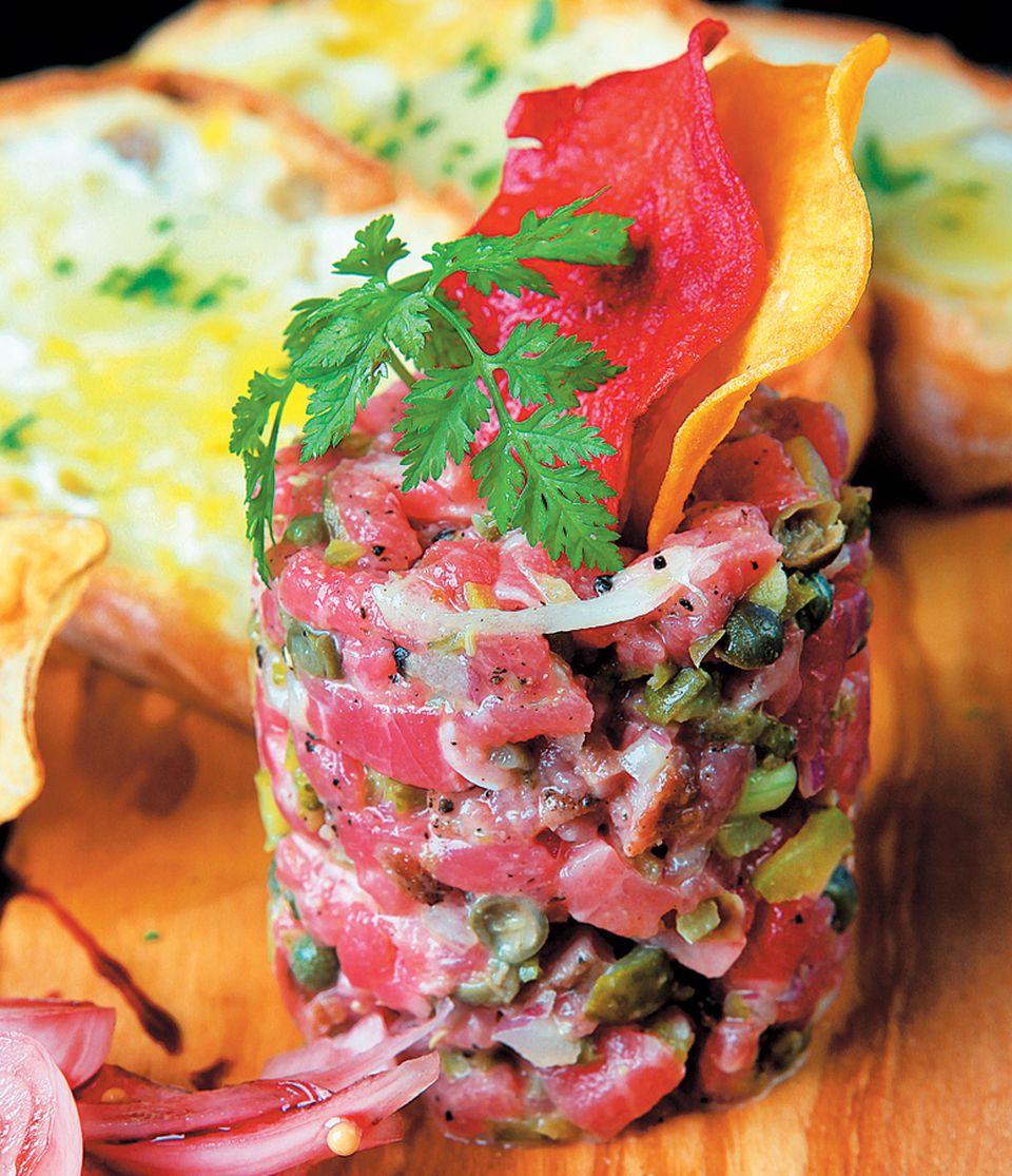 Steak tartare at Bancroft's.