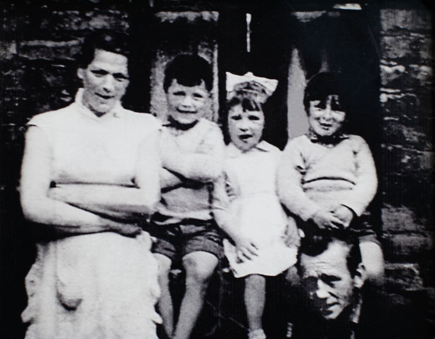 Jean McConville with three of her 10 children.