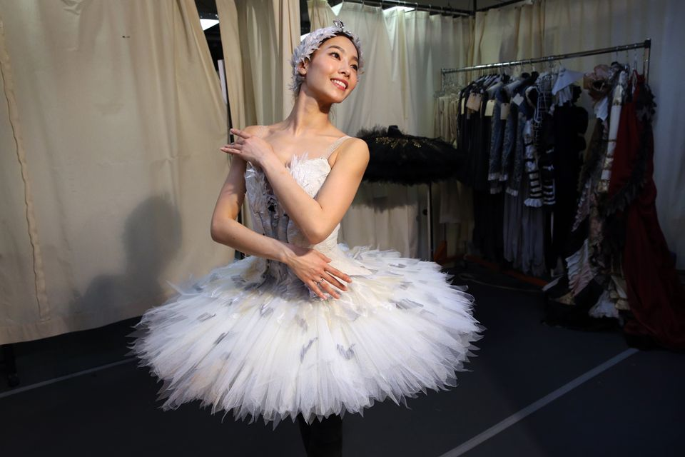 """Seo Hye Han, seen posing while being fitted for a """"Swan Lake"""" costume, will be a principal dancer with Boston Ballet next season."""