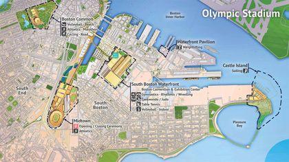 Changing Boston's map, Olympics style - The Boston Globe