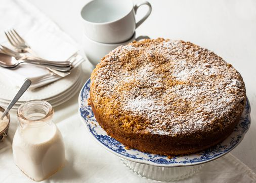 Recipe for sour cream coffee cake with apples - The Boston ...