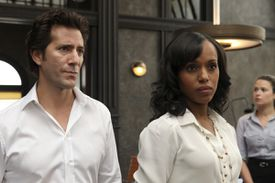 ''Scandal'' with Henry Ian Cusick and Kerry Washington.