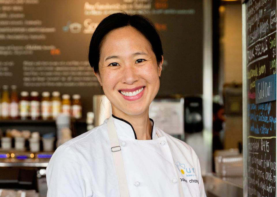 Boston chef and restaurateur Joanne Chang has earned her first James Beard award. She was named outstanding baker at Monday's awards ceremony.