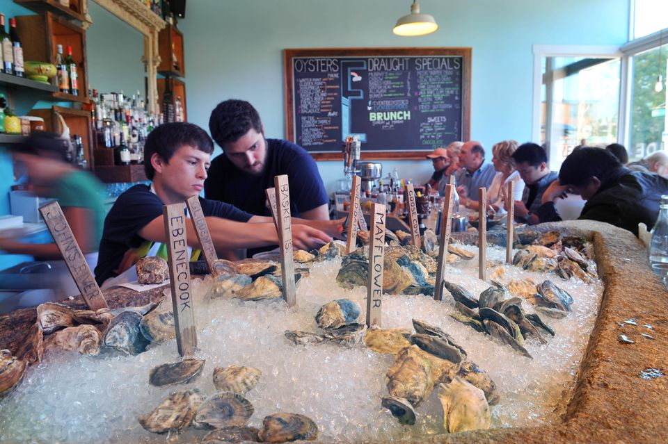 Staff IDs the goods at Eventide Oyster Co.