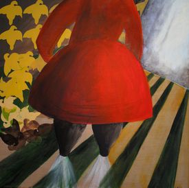 "Linda Klein's ""Grandma in Red."""