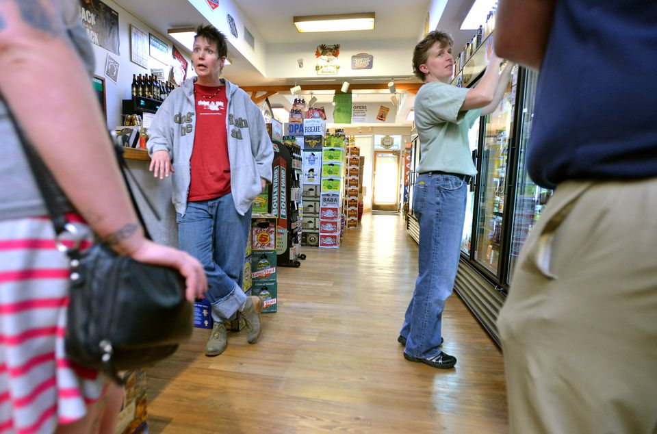 """Suzanne Schalow (left) and Kate Baker opened the first Craft Beer Cellar in Belmont in 2010. Talking about the store's franchising, Schalow said, """"We've said yes to some of the wrong people."""""""