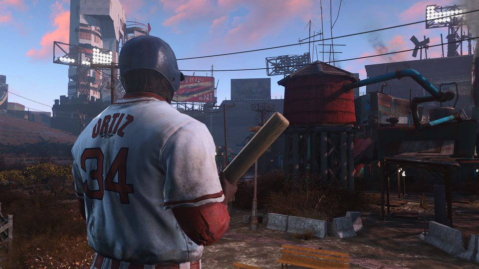 """Fans of """"Fallout 4,"""" which takes place in a Boston wasteland, can now have their characters wear a David Ortiz's jersey during gameplay."""